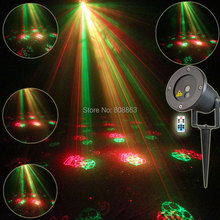 Outdoor Waterproof RG Laser 12 Christmas Patterns Projector Remote Landscape Coffee DJ Dance Club Party Holiday Garden Light T75