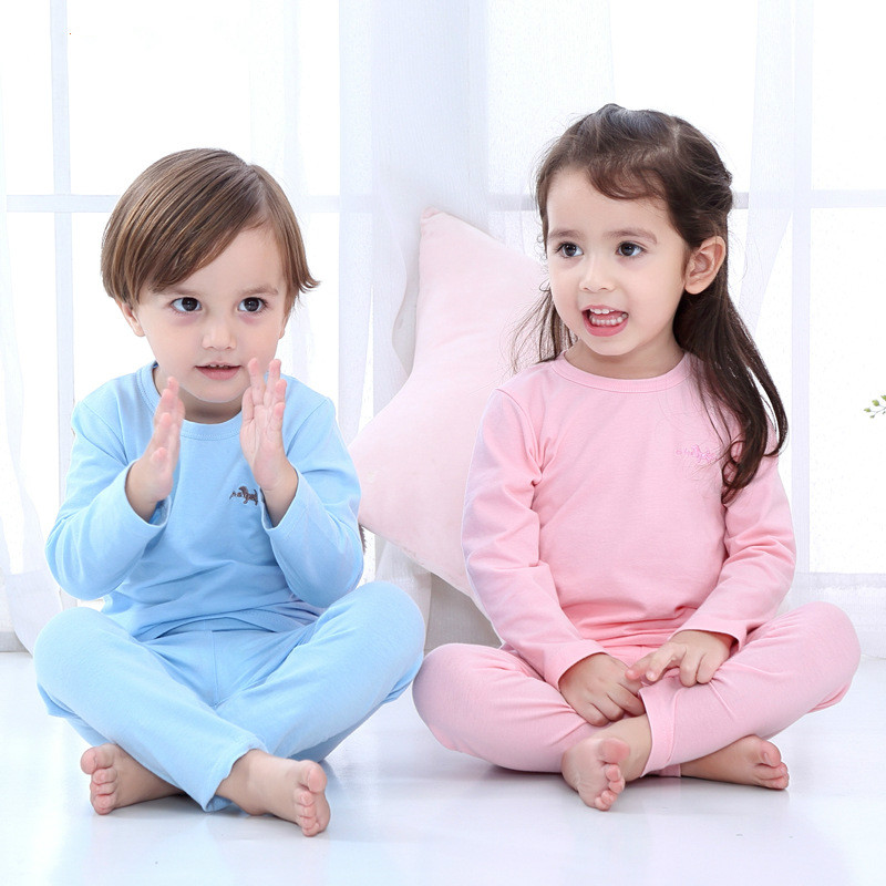 4-12 Jahre Kinder Unterwäsche Anime Warme Baby Junge Mädchen Casual Sport Anzug Baumwolle Pyjama Sets Home Trainingsanzüge 6 Farbe Husten Heilen Und Auswurf Erleichtern Und Heiserkeit Lindern