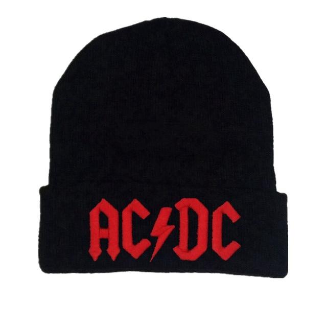 Men Women Winter Warm Beanie Hat Rock ACDC AC DC Rock Band Warm Winter Soft  Knitted Beanies Hat Cap For Adult Men Women 9f9fdbecce5