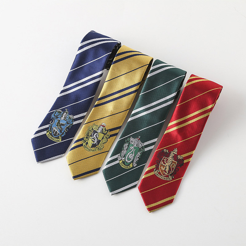 Harry Potter Tie Costume Accessories Gryffindor Series Tie Harry Potter Ravenclaw College Necktie Cosplay Gifts For Men Women