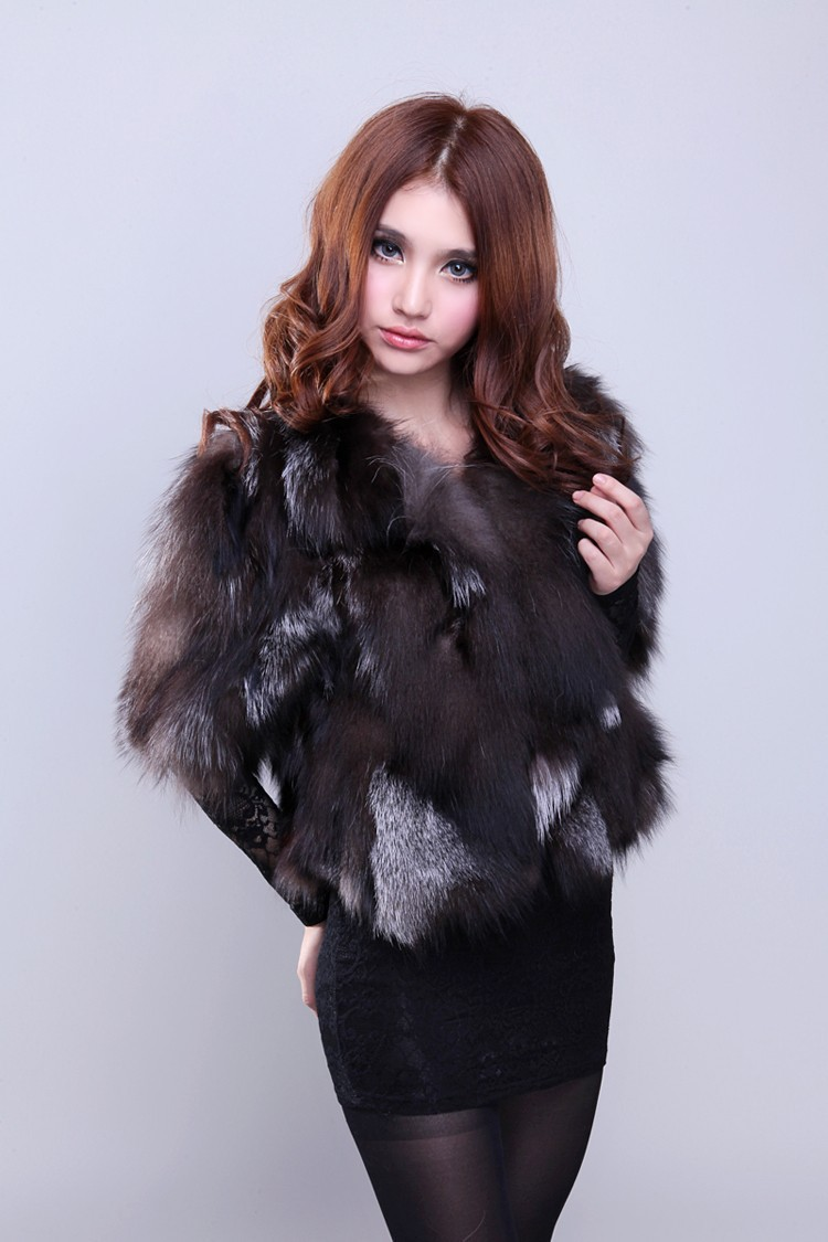 Free shipping new Genuine real natural sliver fox Fur coat winter fashion waistcoats  women's Jacket custom any size bust 80-120