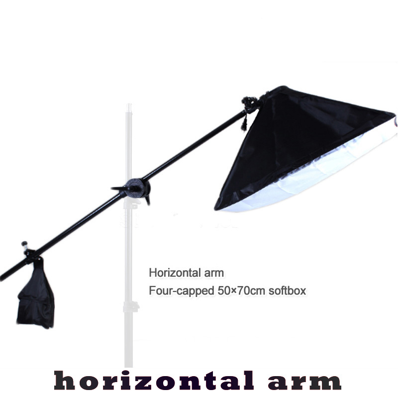50*70cm Continuous Lighting Softbox 4 Lamp Holder Cross