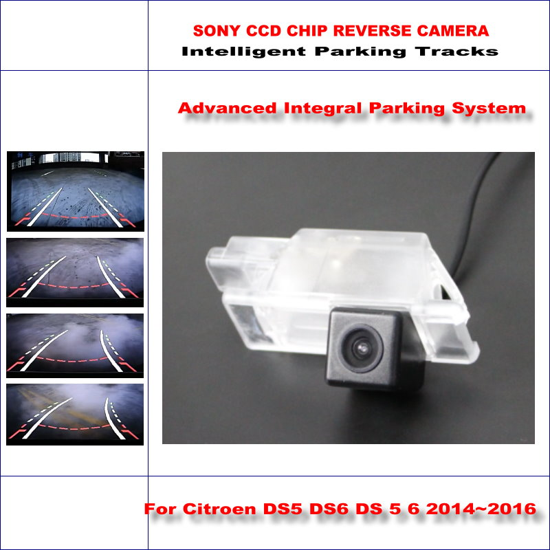 Dynamic Guidance Rear Camera For Citroen DS5 DS6 DS 5 6 2014~2016 / 580 TV Lines HD 860 * 576 Pixels Parking Intelligentized