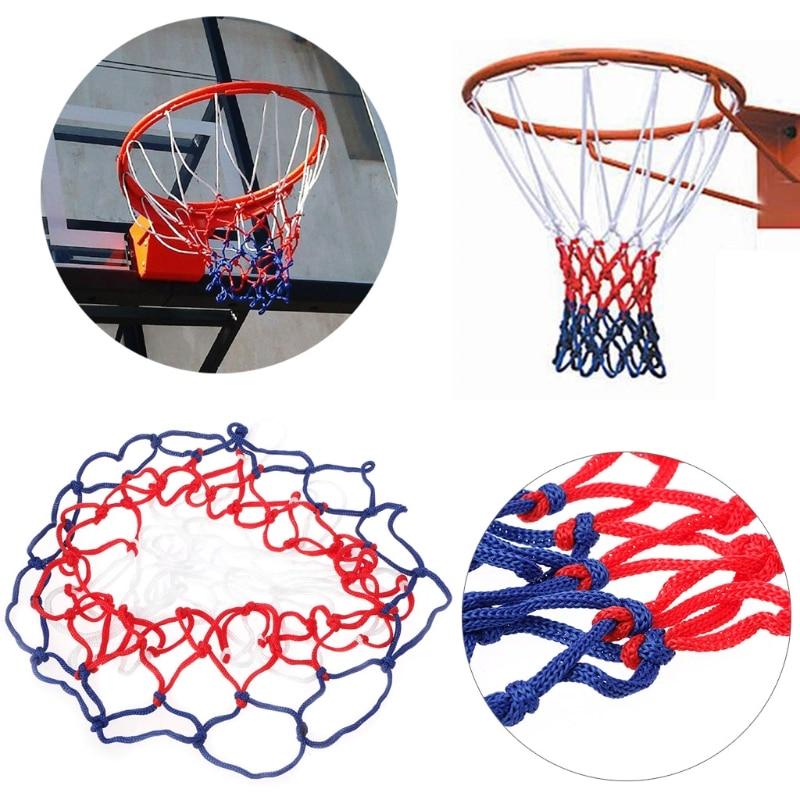 1Pc Universal 5mm Red White Blue Basketball Net Nylon Hoop Goal Rim Mesh
