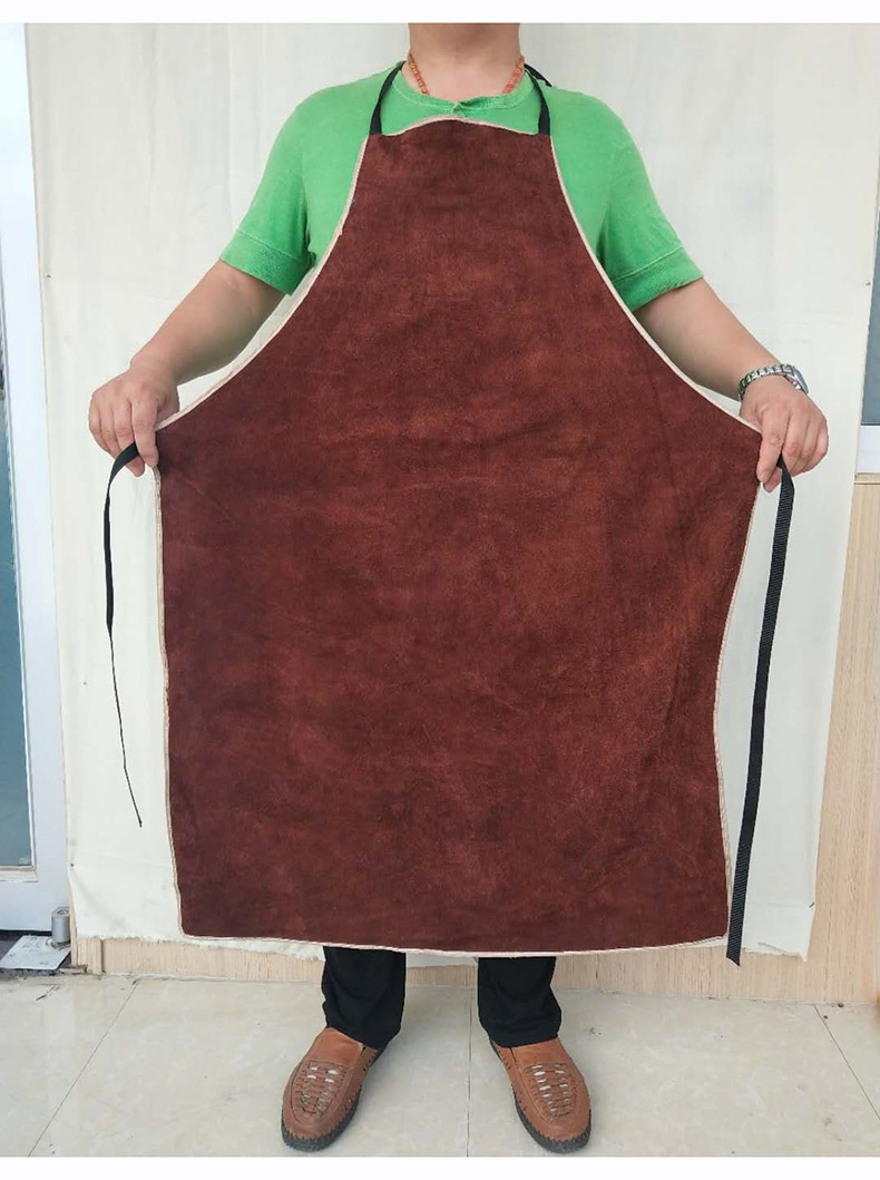 Welding Apron Heat Insulation A Whole Piece of Cow Leather Protective Aprons Flame Resistant Welders Workplace Safety Clothing (12)