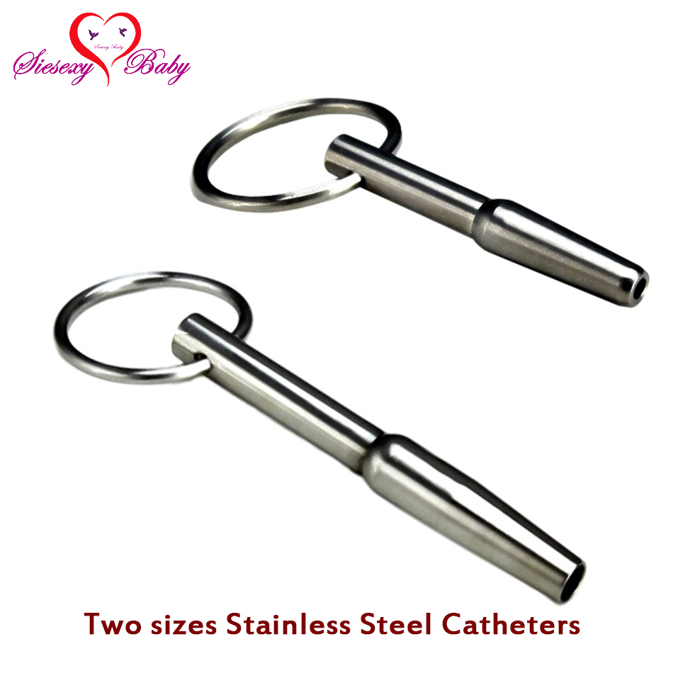 bd company a_034 A034 Two size selected Hollow Urethral Dilators Stainless Steel Penis Plug, Urethral Catheter Stretching Tube