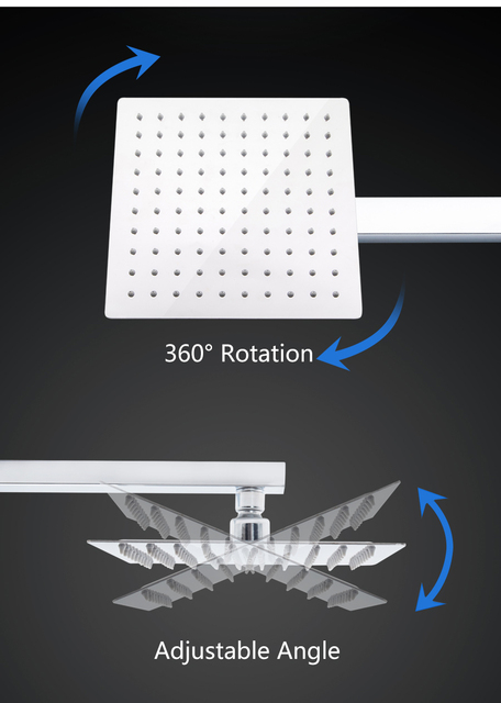 8/10/12 inch Stainless Steel Shower Head Square or...