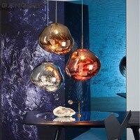 Nordic Creative Lava Lamp Modern LED Pendant Light Glass Hanging Lights Pendant Lighting Home Decor Loft Lamps Luminaire