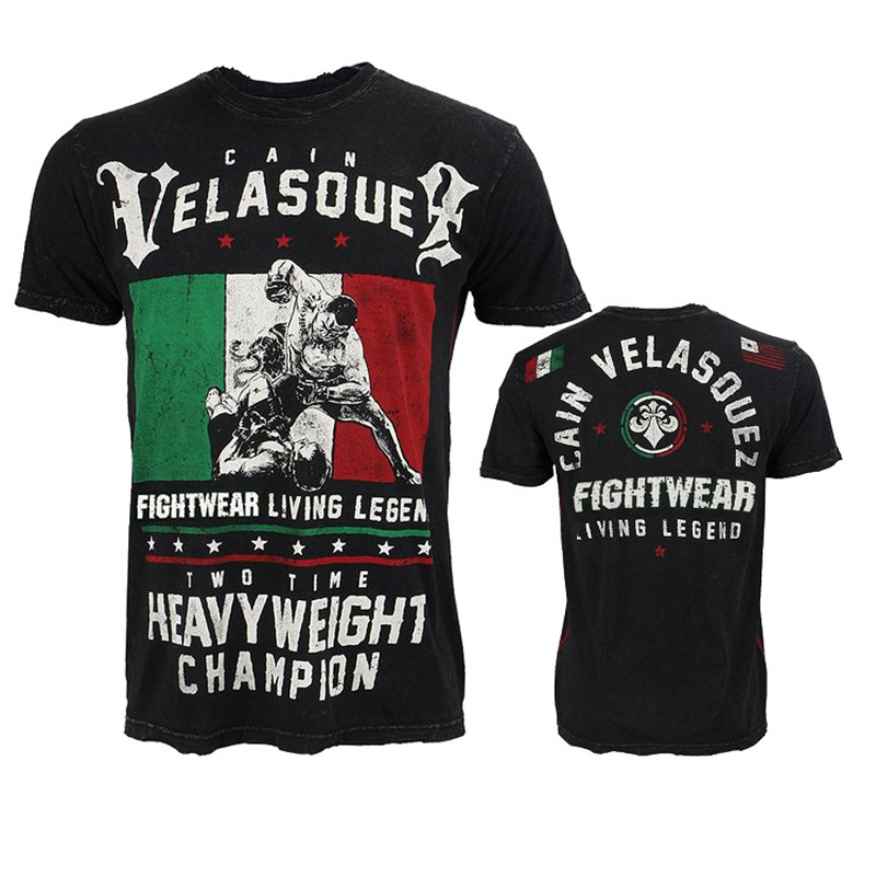 VSZAP Cain Velasquez Fightwear Living Legend Fitness T-Shirt Men Breathable MMA Fighting Workout UFC Fight Muay Thai Sanda Tops