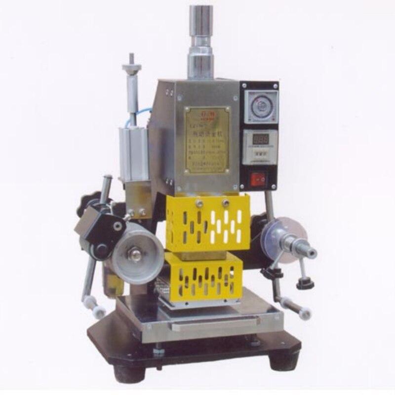 Pneumatic hot foil stamping foil stamper printer leather denting machine 110*80mm 110V/220V 90 3