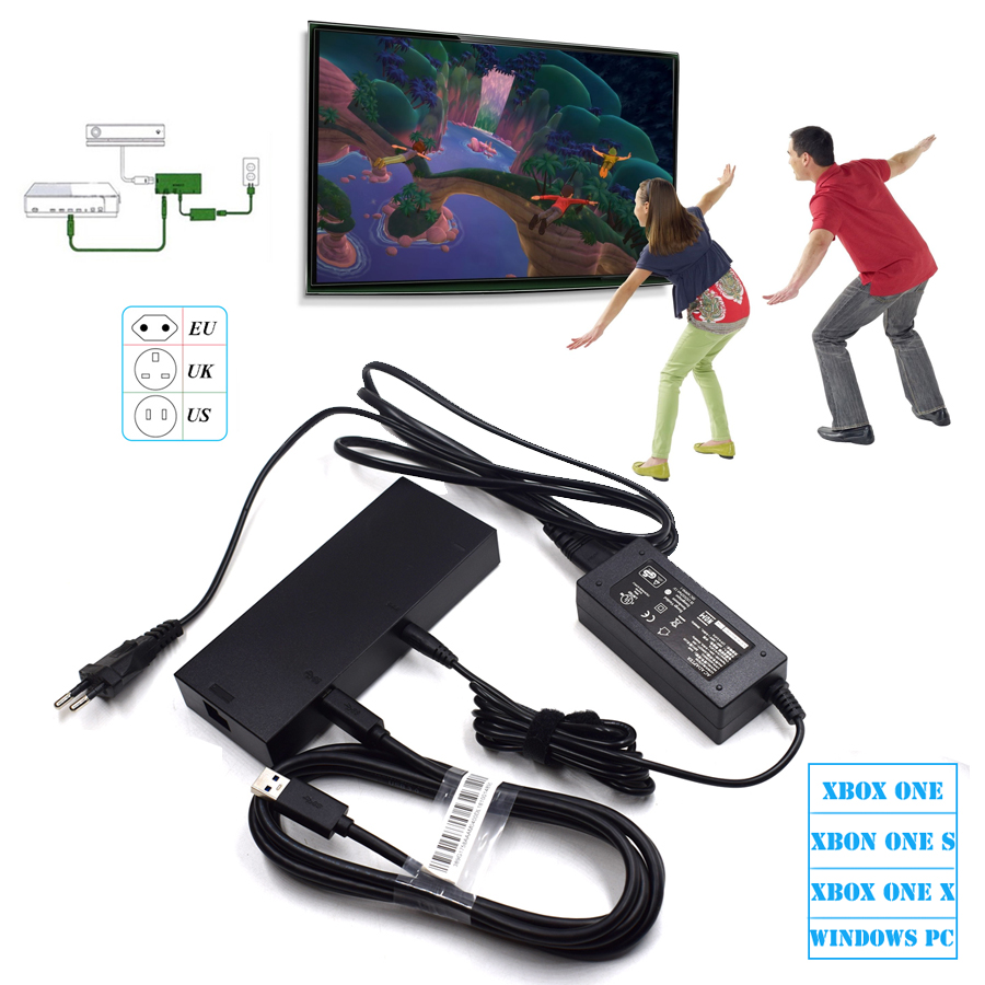2018 NEW Version Kinect 2.0 Sensor AC Adapter Power Supply For Xbox One S / X / Windows PC For XBOXONE Slim/X Kinect Adaptor