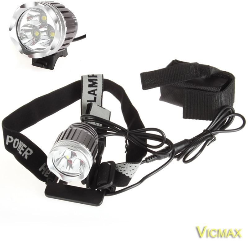 VICMAX 3T6 Headlamp 5000 Lumens 3 x C-XM-L T6 Head Lamp High Power LED Headlamp Head Torch Lamp Flashlight Head +charger+Battery 3 6 5000 carretel arremesso
