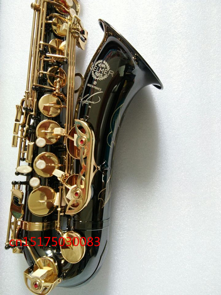 Tenor Saxophone Bb French SELMER Musical Instrument Sax Black Nickel plated Gold kay saxophone Tenor accessories Professional купить недорого в Москве