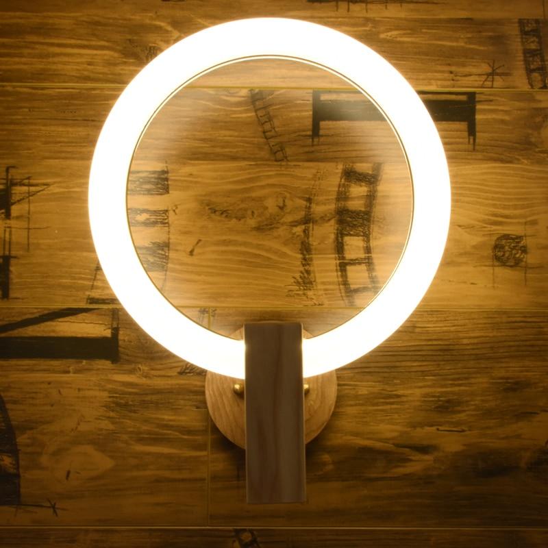 Современный новинка настенный светильник круглые настенные бра LED спальня ночники творческая гостиная светильники коридор прохода Настен...