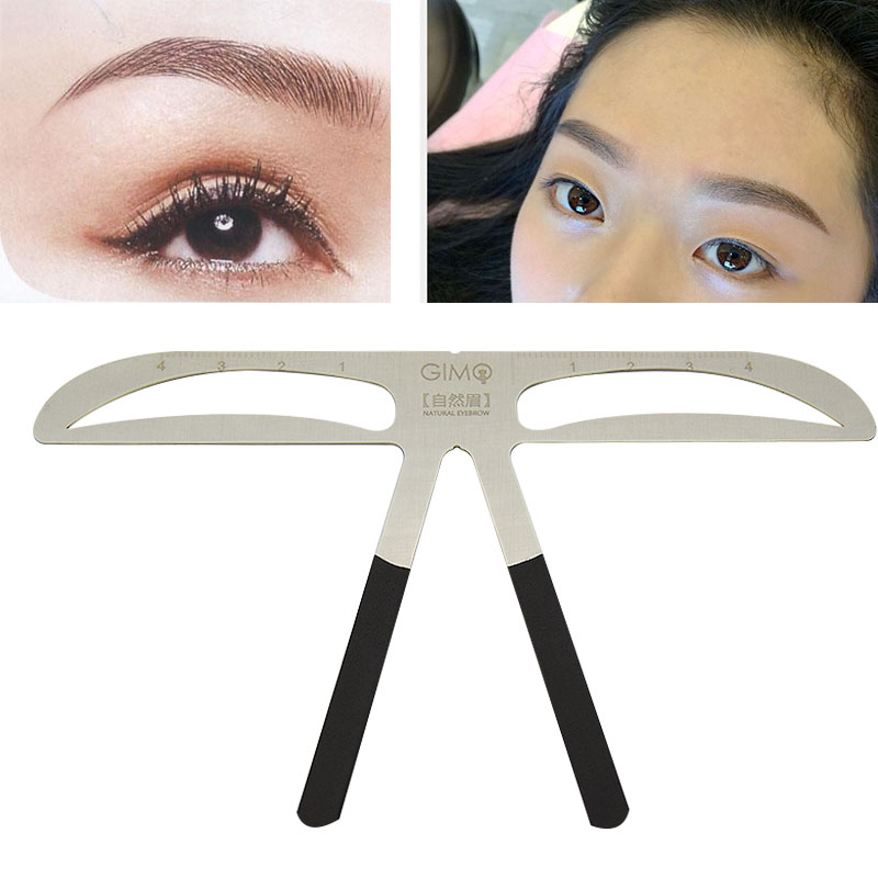 4pcs Permanent Makeup Eyebrow Grooming eyebrow template stencil Brow Template DIY  eyebrow ruler makeup tool