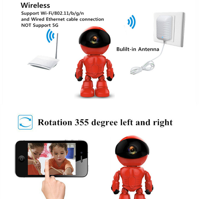 ZILNK 960P 1.3MP HD Wireless WI-FI IP Camera Robot P2P Night Vision Two way Audio Network Baby Monitor