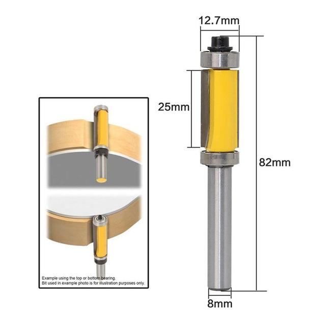 8mm Shank Pattern Flush Trim Router Bit 1 2 25 Cutter Top Bottom