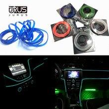 JURUS 10 Pcs רכב סטיילינג הסביבה אור רכב פנים תאורה אביזרי עבור אוטומטי LED רצועת מנורת 12 V מהפך חבל צינור קו Lmap