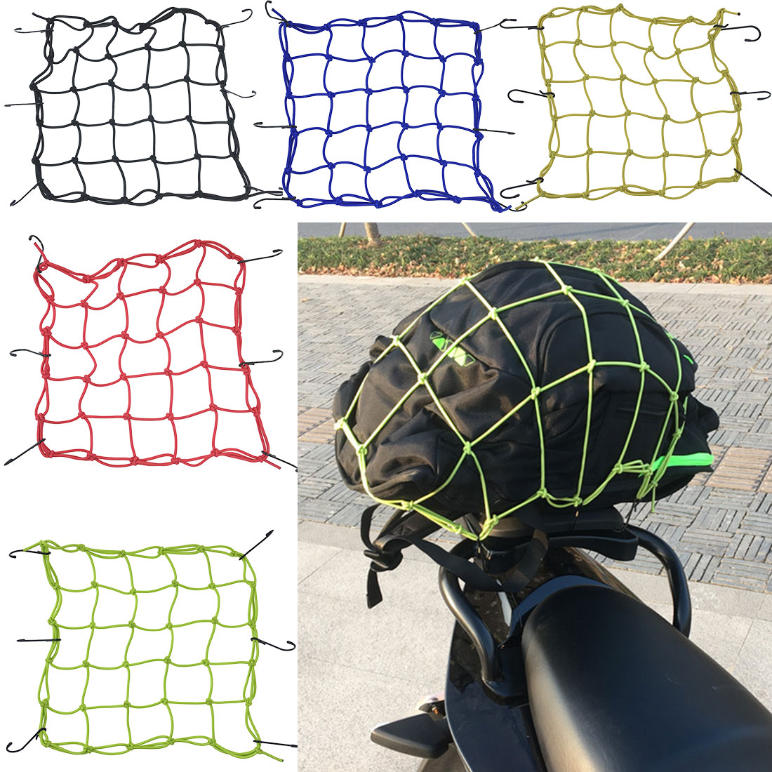 Hot Selling MTB Bicycle Cargo Net Elastic Bike Luggage Rope Fixed Helmet Sundries Professional Bicycle Accessories