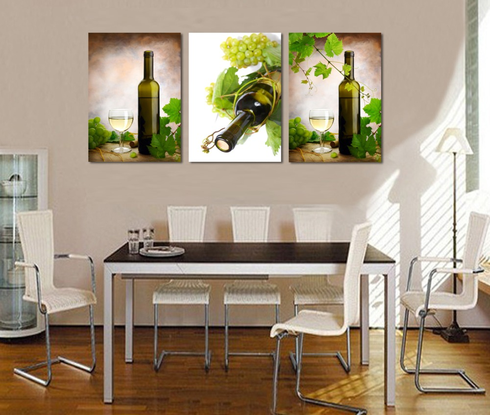 Aliexpresscom Buy Wall Art Picture Home Decoration Wine Bottles