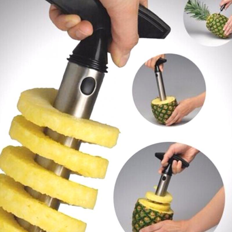 1Pc acier inoxydable facile à utiliser ananas éplucheur accessoires ananas trancheuses Fruit couteau Cutter Corer trancheuse cuisine outils