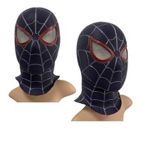 PVC Spiderman Cosplay Mask Avengers Endgame 4 Black Spider Man Full Head Adult Superhero Masks Party Halloween Costume Props