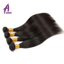 Alimice Малайзии прямые волосы 100% Человеческие волосы Weave Связки не Волосы Remy Расширения Natural Цвет можно купить 3 или 4 пучки