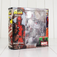 16cm Deadpool Revoltech Western X Men Action Figure Wade Winston Wilson Doll With Sword Gun Weapon Collectible Model Toy