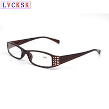 Women Presbyopic Reading Glasses magnifier with diopters sight Eyeglasses Diamond Temple Spring Legs Fashion Cheap Spectacles L3