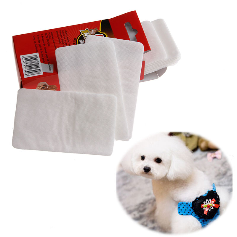 10pcs Pet Disposable Diaper Dog Doggy Cat Diapers Nappy Pads Paper Mat