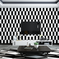 Black and White Wallpaper Modern Simple Nordic Style Geometry Living Room Bedroom Dining Room TV Background Wall Wallpaper