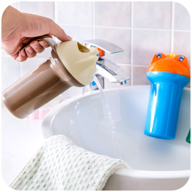 Cute Cartoon Baby Shower Water Spoon infant Bathing Flusher Baby Shampoo Cup Bath Wash Cups Wash Head Floating Toy