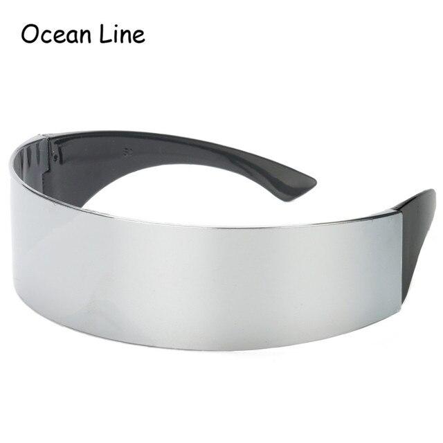 481d3c4693ea7 Drôle futuriste Wrap autour de Monob Costume lunettes de soleil masque  nouveauté lunettes Halloween fête faveurs