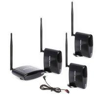 HBUDS 2,4 ГГц 350 м Беспроводной AV отправителя ТВ аудио видео 1 передатчик 3 приемника с ИК пульт PAT 260 черный