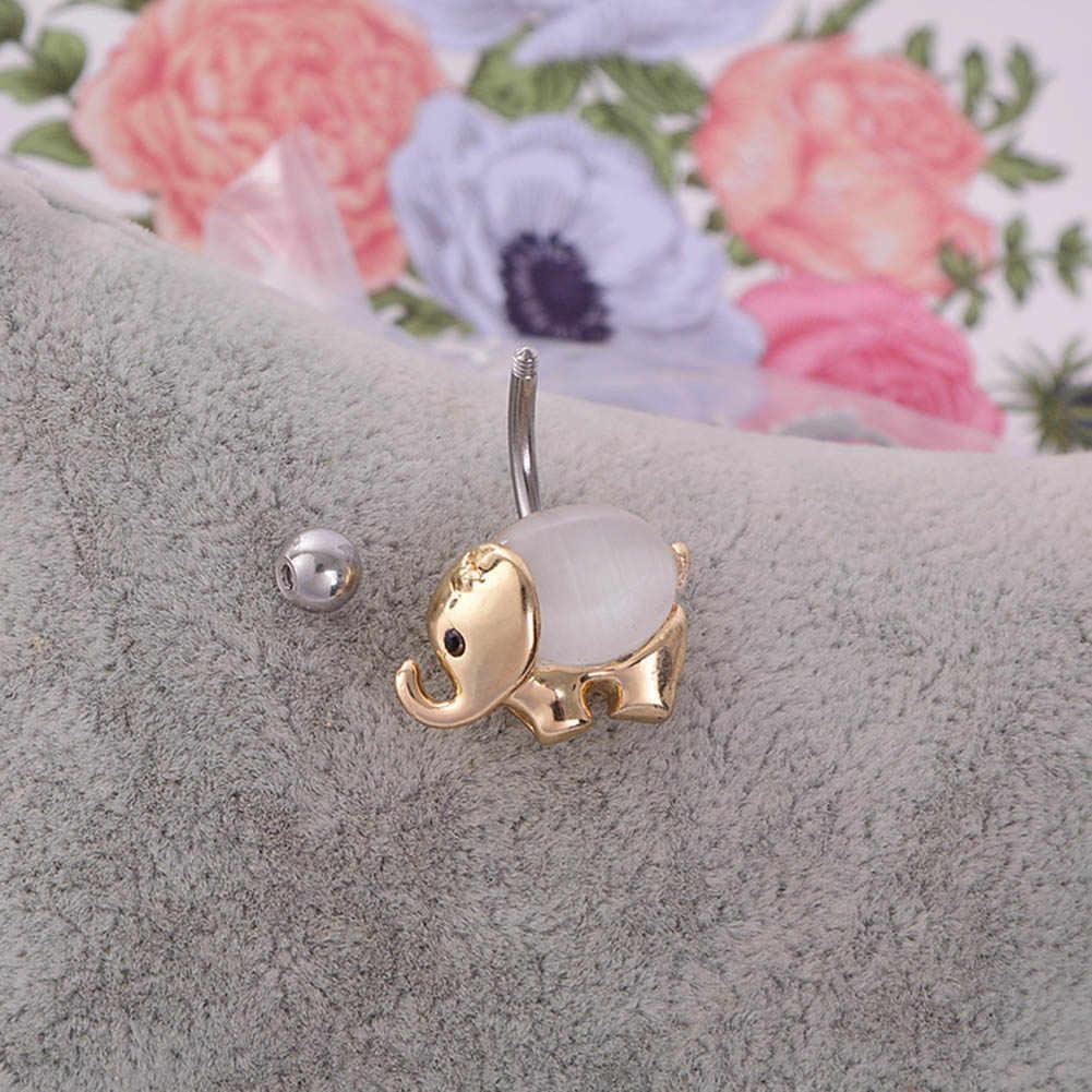כפתור טבעות עבור חג חוף אביזרי יוקרה פיל זהב צבע תכשיטי גוף