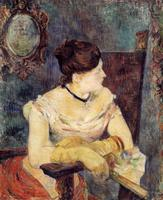 High quality Oil painting Canvas Reproductions Mette Gauguin in an Evening Dress (1884) by Paul Gauguin hand painted