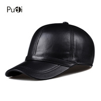 HL091 Lente lederen man baseball cap hoed mannen real leather verstelbare trucker rijden black snapback hoeden caps