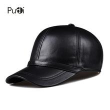 HL091 genuine leather man s baseball cap hat CBD high quality men s real leather adult