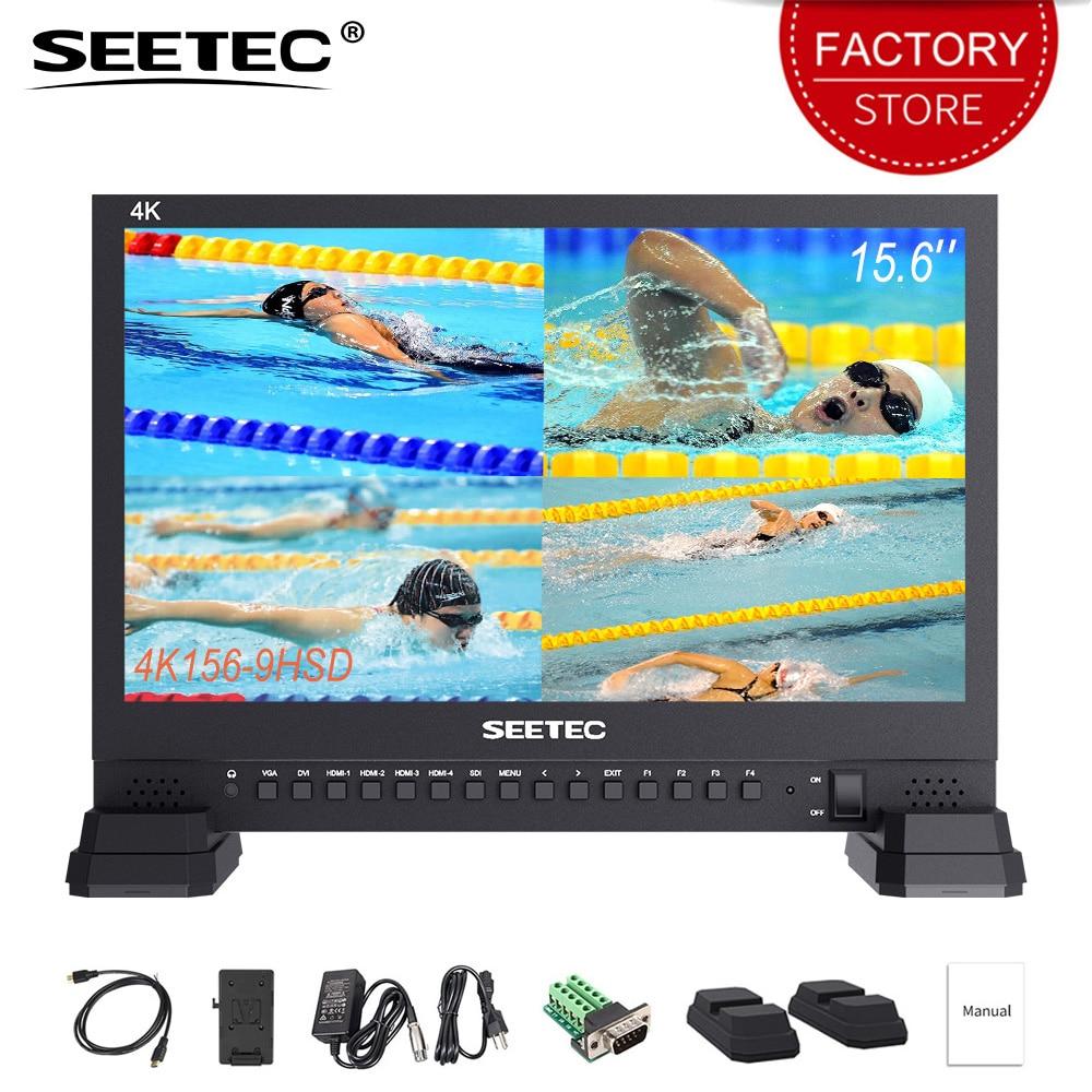 SEETEC 4K156 9HSD 15 6 inch 3G SDI Broadcast Studio Video Monitor 4K UHD 3840x2160 IPS
