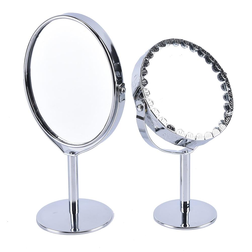 Kraftvoll 1 Stück 1:2 Lupenfunktion Glas Kosmetikspiegel Frauen Make-up Kosmetikspiegel Doppelseitige Normale Vergrößerungsständer Spiegel Geschenk Neueste Mode Schminkspiegel