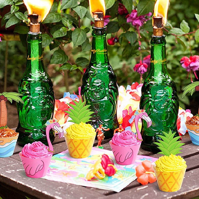 Aliexpress.com : Buy 1set Flamingo/Pineapple/Palm Cupcake ...