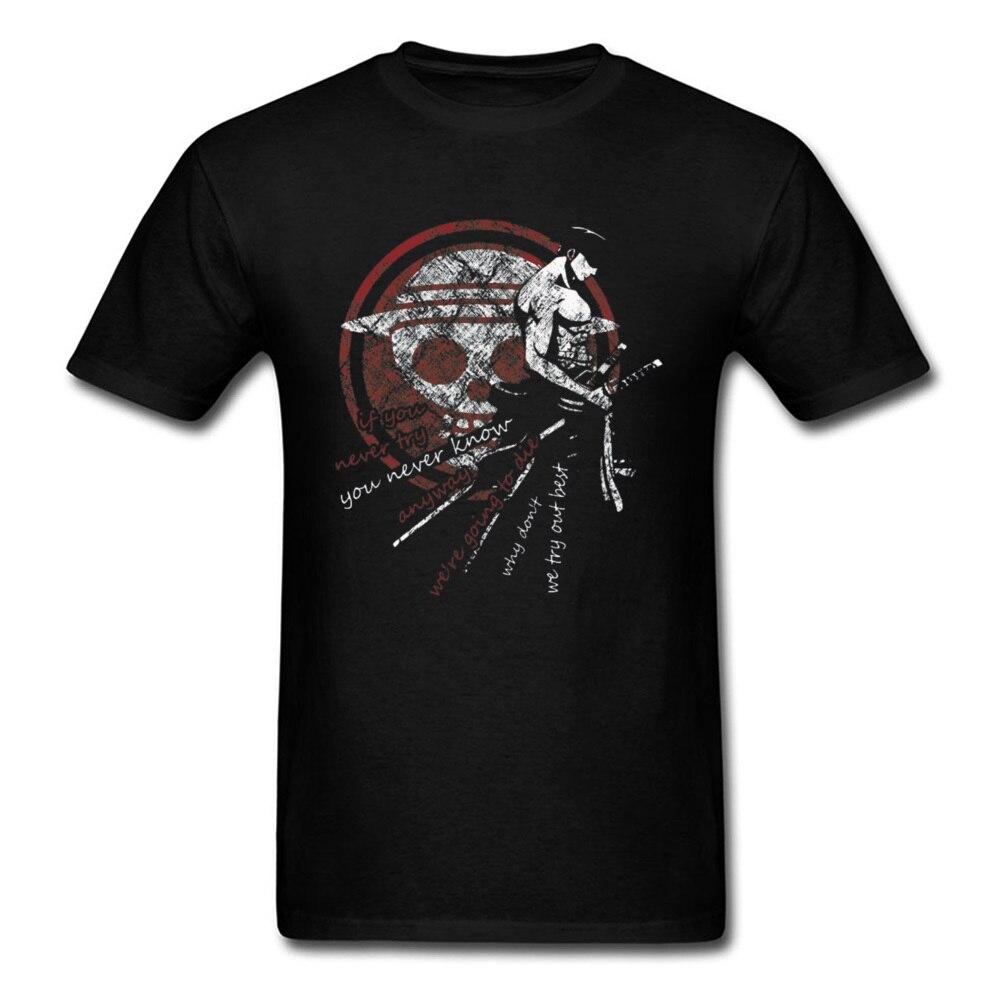 Swordsman   T  -  shirt   Men Vintage Zoro Tshirt Newest One Piece   T     Shirts   Pirate King Lufft Tees Japan Anime Tops Skull Symbol Printed