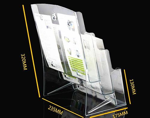 Klar Kunststoff Acryl Broschüre Literatur Pamphlet Display Halter Racks Steht Einzusetzen Broschüre Sechs A6 Taschen 2 pc-in Clip-Halter & Clip-Dispenser aus Büro- und Schulmaterial bei  Gruppe 3