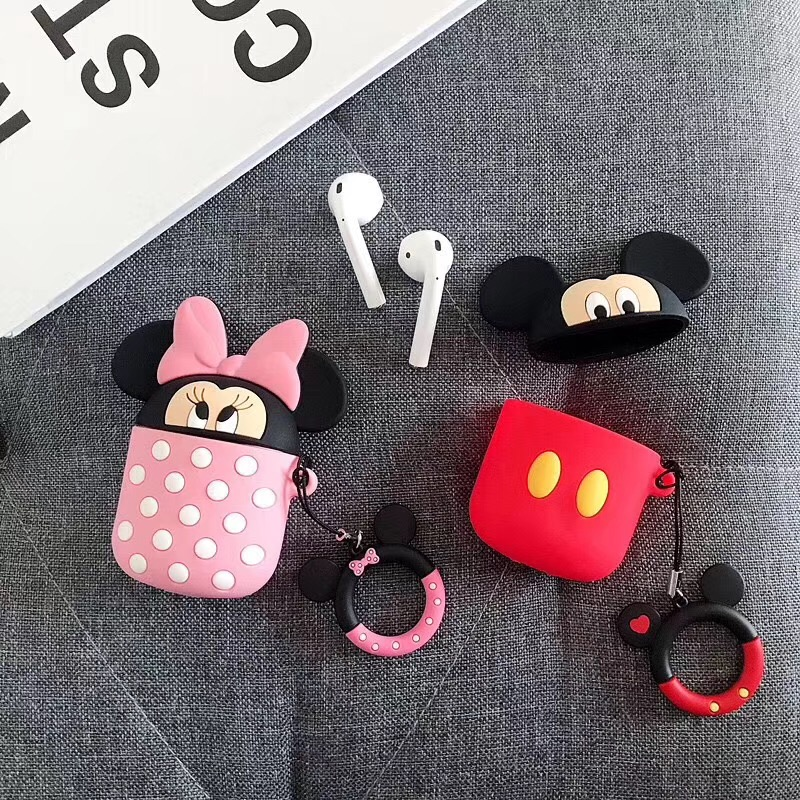 Image 3 - Bluetooth Earphone Case for Airpods Protective Cover Bag Anti lost Strap Cute Cartoon Silicone Charging box case Accessories-in Earphone Accessories from Consumer Electronics