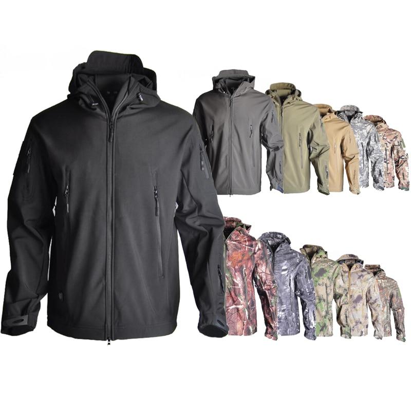 TAD SoftShell V4.0 Tactical Jacket Military Camoufalge Hunting Jacket Men's Waterproof Jacket Hunting Clothes Windbreaker
