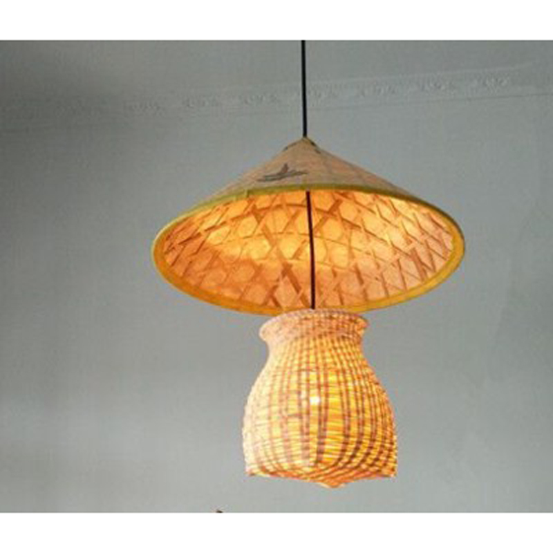 Bamboo Lantern pendant lights Pastoral Country Garden Aisle Study Tea Room Clothing Store Center pendant lamps zb14 LU1021 loft garden pendant lamps  bamboo