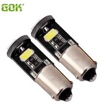 슈퍼 밝은 50x ba9s led canbus 194 168 ba9s 5smd led 5730 canbus 오류 없음 12 v 자동차 자동 전구 표시 등 주차 램프