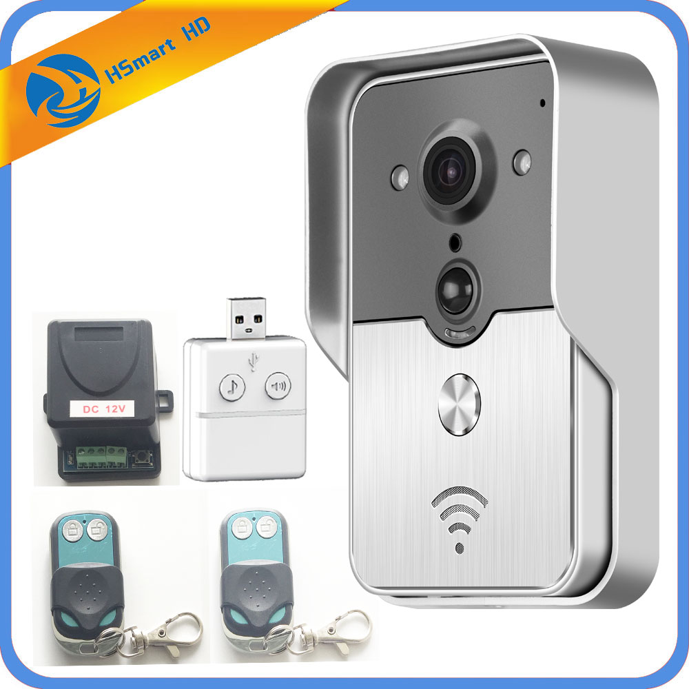 IP Doorbell With 720P Camera Video Phone WIFI Door bell Night Vision IR Motion Detection Alarm for IOS Android Support SD Card smart led table lamp desk lamp with wifi ip camera app for android ios phone hd1080p video camera audio recording with 8gb