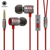 Original GGMM Stereo Music In Ear Earphone Full Metal Bass Earphones Hands Free With Microphone Gaming