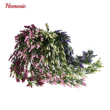 Artificial plastic hanging flowers 80cm lavanta yapay cicek lavender stamens Plants with Leaves Bunch Plastic Party Home Garden